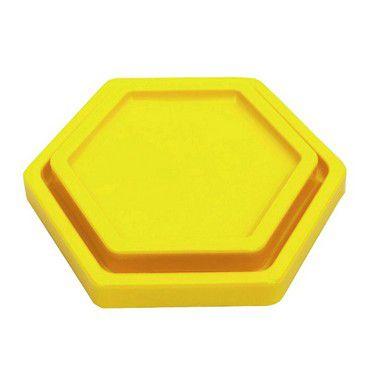 Bandeja Sextavada Amarelo Neon - 01 unidade - Só Boleiras - Rizzo