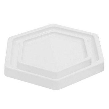 Bandeja Sextavada Branco - 01 unidade - Só Boleiras - Rizzo
