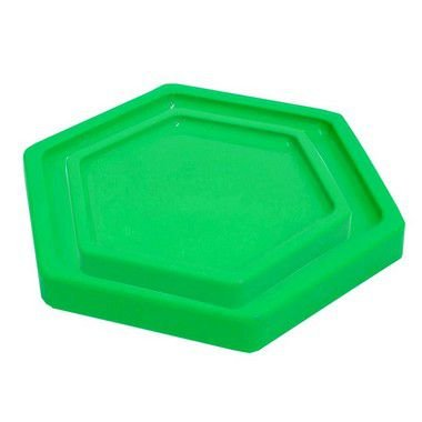 Bandeja Sextavada Verde Limão - 01 unidade - Só Boleiras - Rizzo