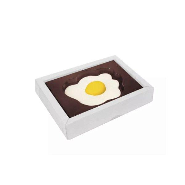 Caixa Ovo Frito Branca - 5 Unidades - Crystal -  Rizzo Confeitaria
