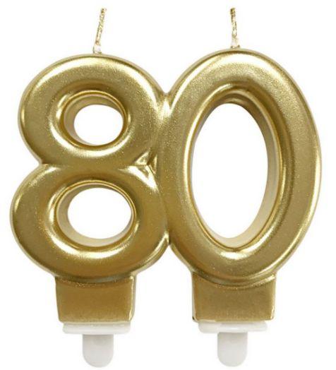 Vela 80 anos Dourada - Mundo Bizarro