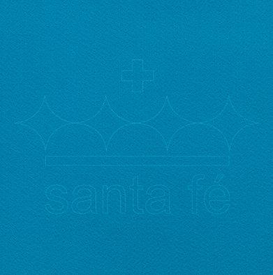 Feltro Liso 1 X 1,4 mt - Azul Turqueza 028 - Santa Fé - Rizzo Embalagens