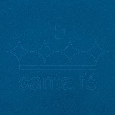 Feltro Liso 30 X 70 cm - Azul Mediterraneo 201 - Santa Fé - Rizzo