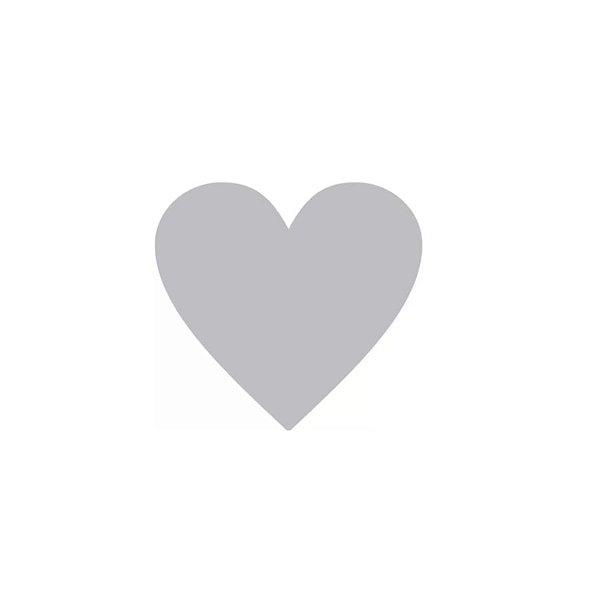 Etiqueta Adesiva Coração Prata com 100 un. Rizzo