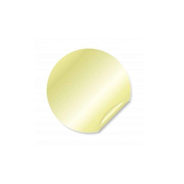Etiqueta Adesiva Redonda Dourada com 100 un. Rizzo