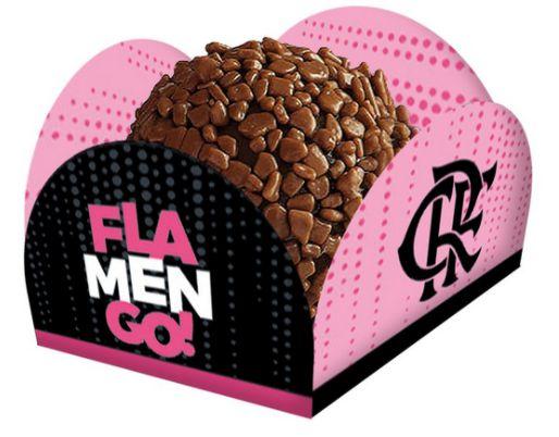 Porta Forminha Festa Flamengo Rosa - 40 Unidades - Festcolor - Rizzo Festas