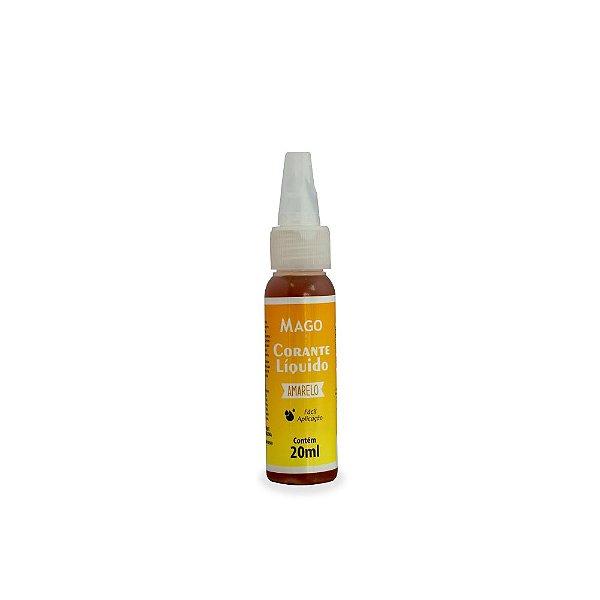 Corante Líquido Amarelo 20 ml Mago Rizzo Confeitaria