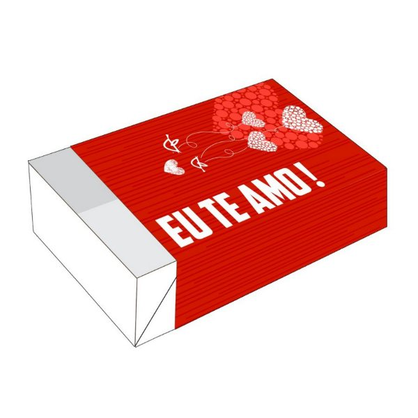 Caixa Divertida Eu te amo 6 doces - Ref. 1640 - 10 unidades - Erika Melkot Rizzo Confeitaria