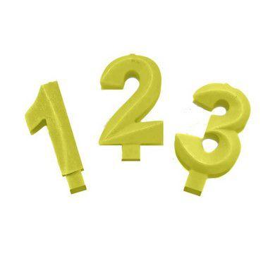 Vela Candy Amarelo - 01 Unidade - Festcolor - Rizzo