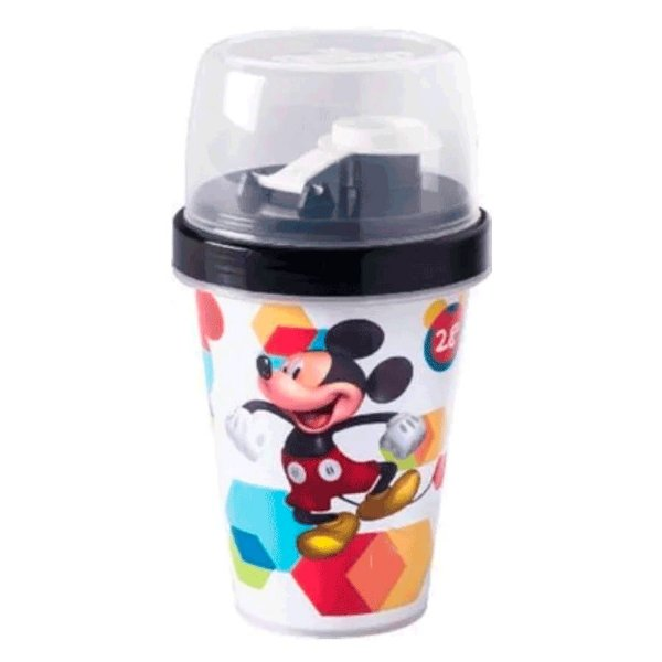 Mini Shakeira com Tampa Mickey 320ml - Plasútil - Rizzo