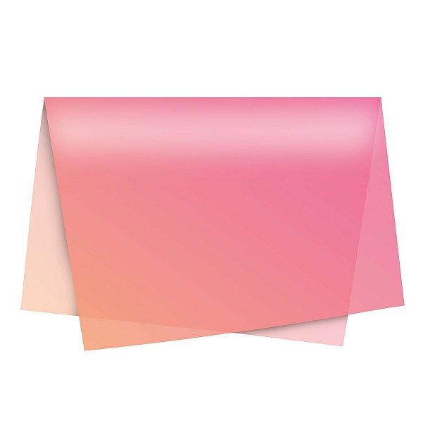 Papel de Seda - 49x69cm - Degradê Rosa - 10 folhas - Rizzo
