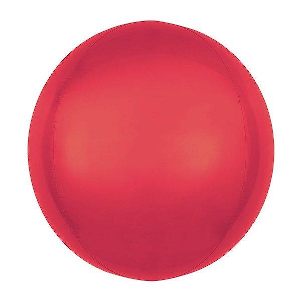 Balão Bubble - Metal Vermelho - 01 Unidade - Sempertex Cromus - Rizzo