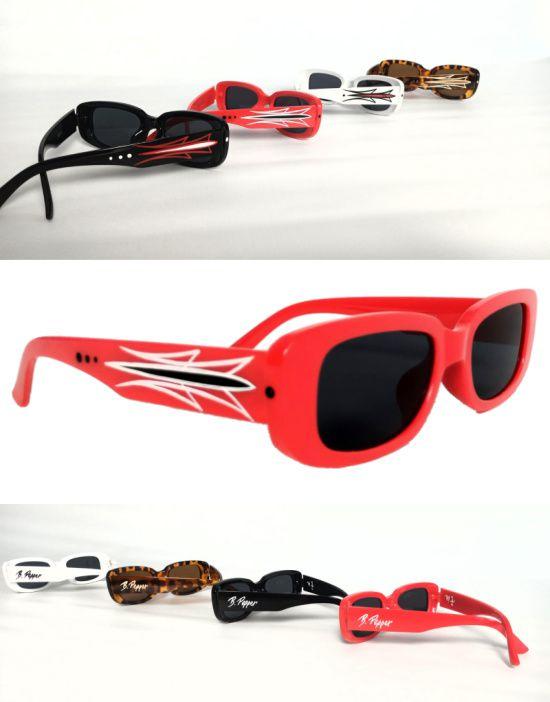 Óculos Escuros Kustom Collab B. Pepper + Sandro Fumaça Pinstriping Handmade