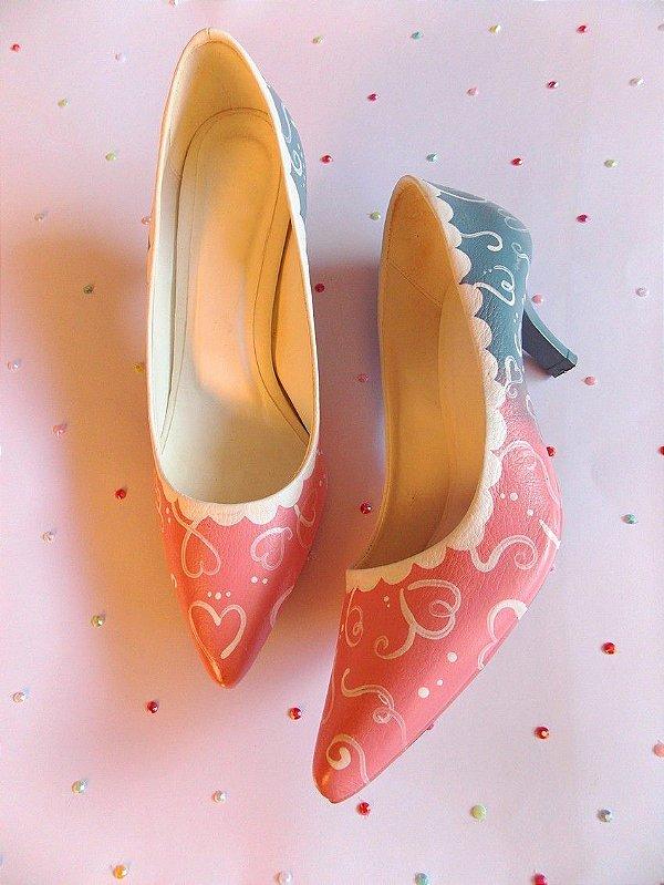 Sapato Sugoi Bride Cake Retrô