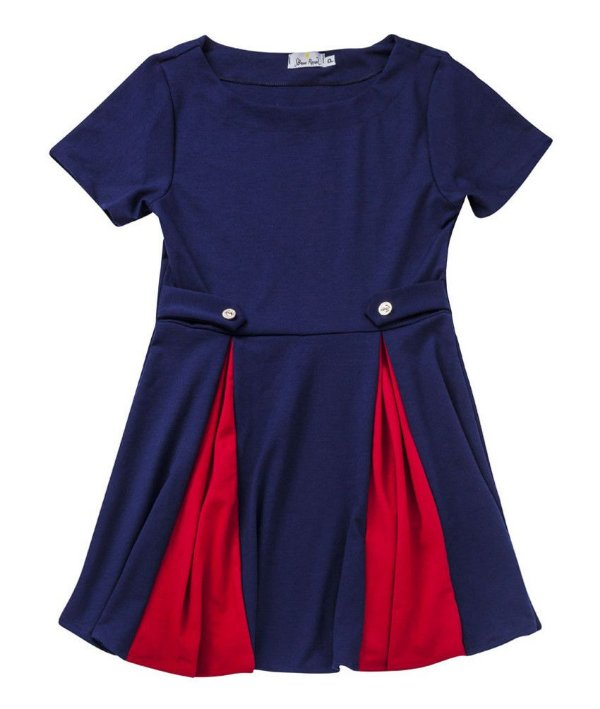 Vestido Navy Bicolor Peggy Mad Men