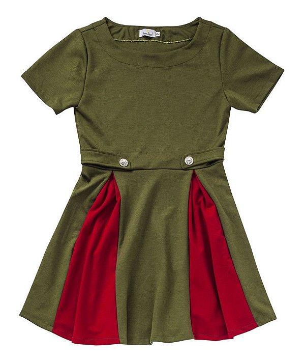 Vestido Army Bicolor Militar