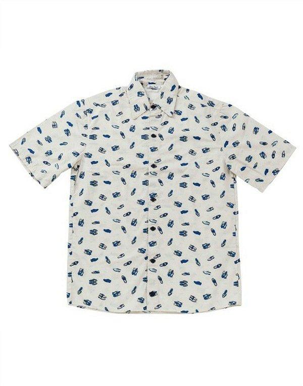Camisa Estampada Manga Curta - Blue Suede Shoes