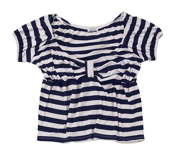 Blusa Ciganinha Pin Up Listrada Plus Size