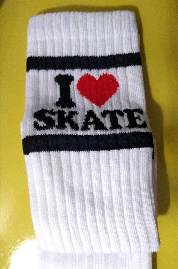 Meias I love skate cano longo
