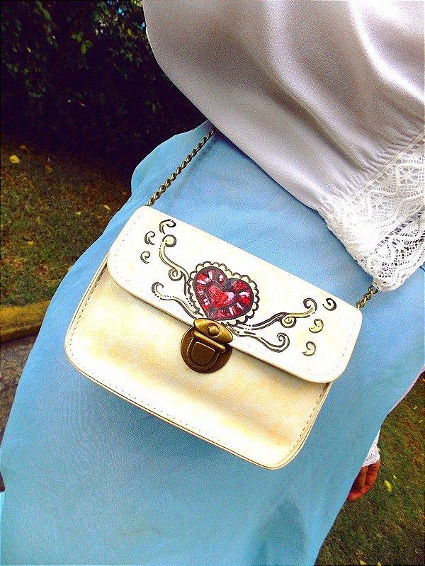 Bolsa Tiracolo Pequena com Corrente Rubi Sugoi Artesanal Retrô