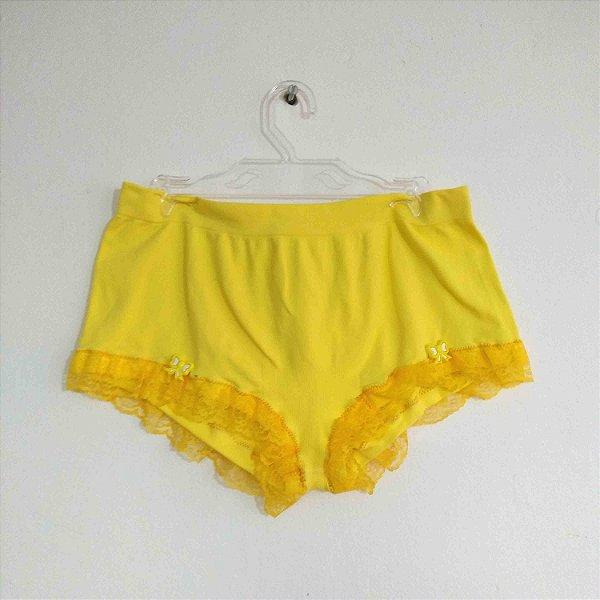 Shorts Calcinha Hot Pants Sem Liga com Renda Pin Up Lacinho Plus Size Retrô