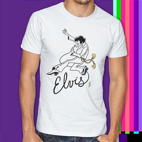 Camiseta Rock n Roll Elvis Presley Statika Retrô