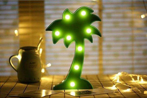 Luminária Abajur de Coqueiro Tropical