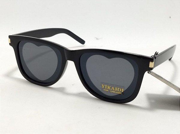 Óculos de sol com coração na lente Pin Up Retrô Vintage Lolita