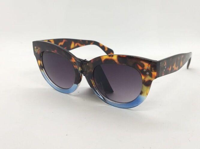 Óculos escuros de Oncinha com Azul Pin Up Vintage Retrô