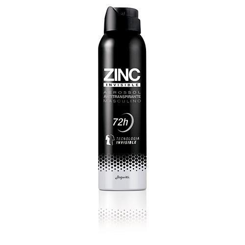 Desodorante Masculino Antitranspirante Aerossol Zinc Invisible Roupa Preta Jequiti