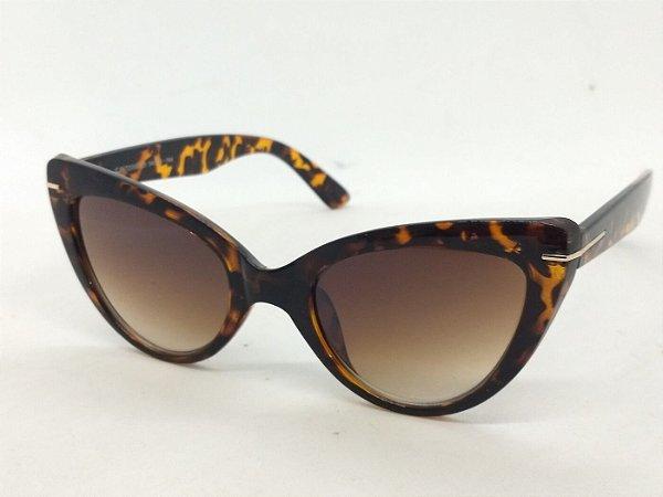 Óculos Escuros Gatinho Clássico de Oncinha Pin Up Retrô