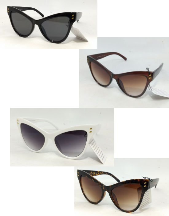 Óculos Escuros Gatinho Grande 50s Pin Up Retrô Degradê