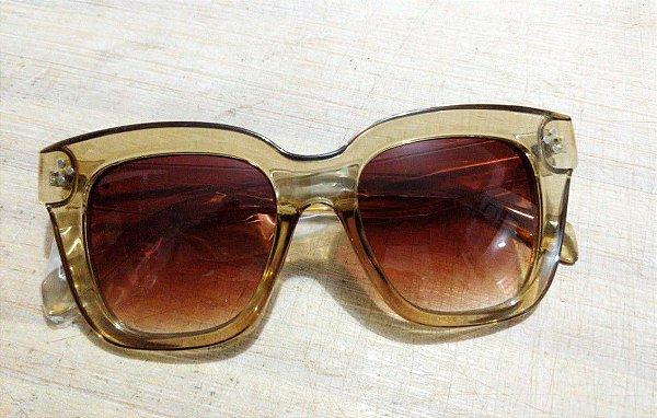 Óculos Retrô Quadrado Suave Transparente Anos 70 80