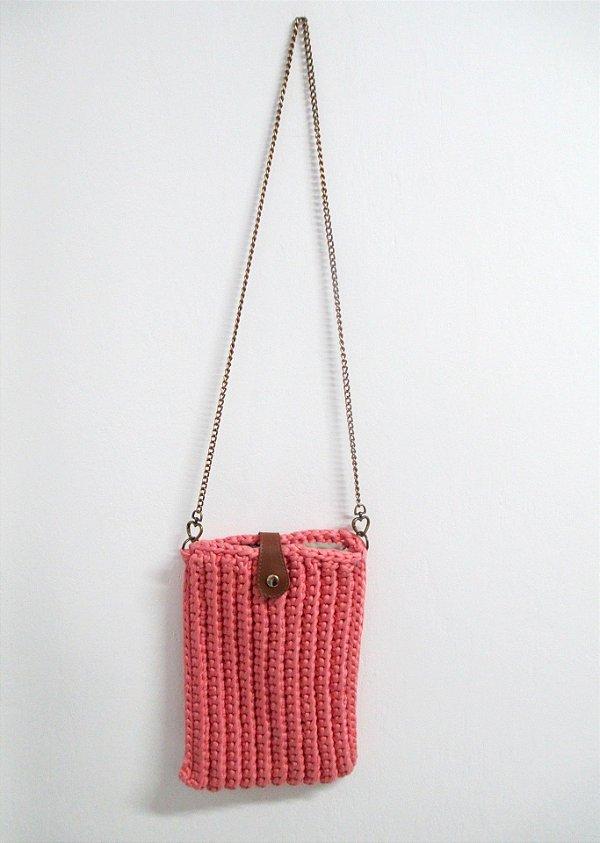 Bolsa Retangular sem Aba Pin Up Retrô em Crochê Sustentável