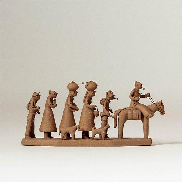 "Miniatura ""Família de Retirantes Crua"""