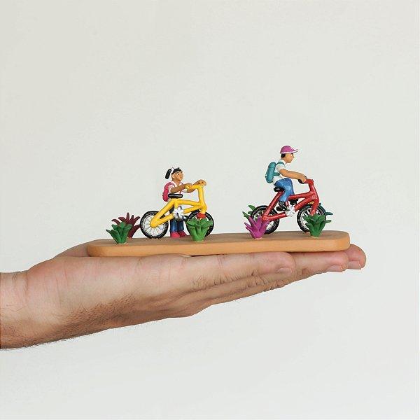 Miniatura Ir a Escola de Bicicleta