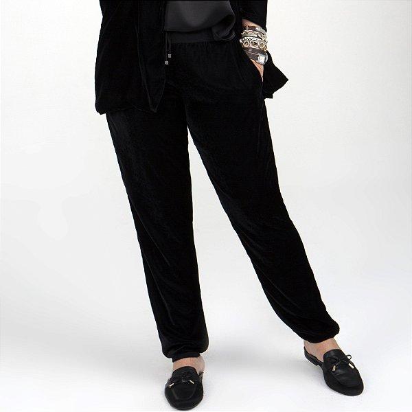 Calça de veludo preta
