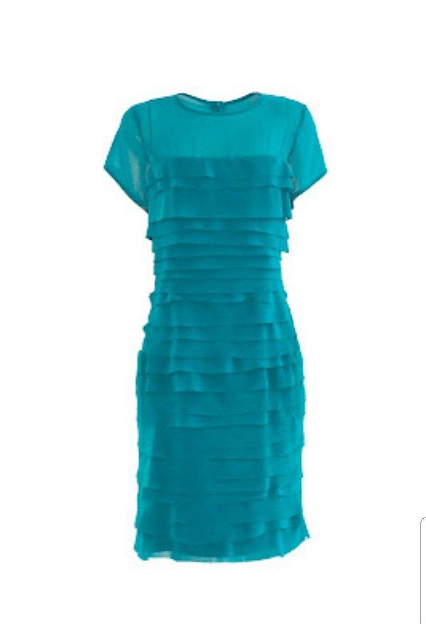 Vestido camadas turquesa
