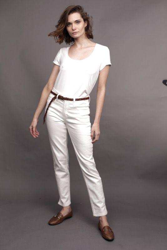 T-Shirt CB Decote U Off White