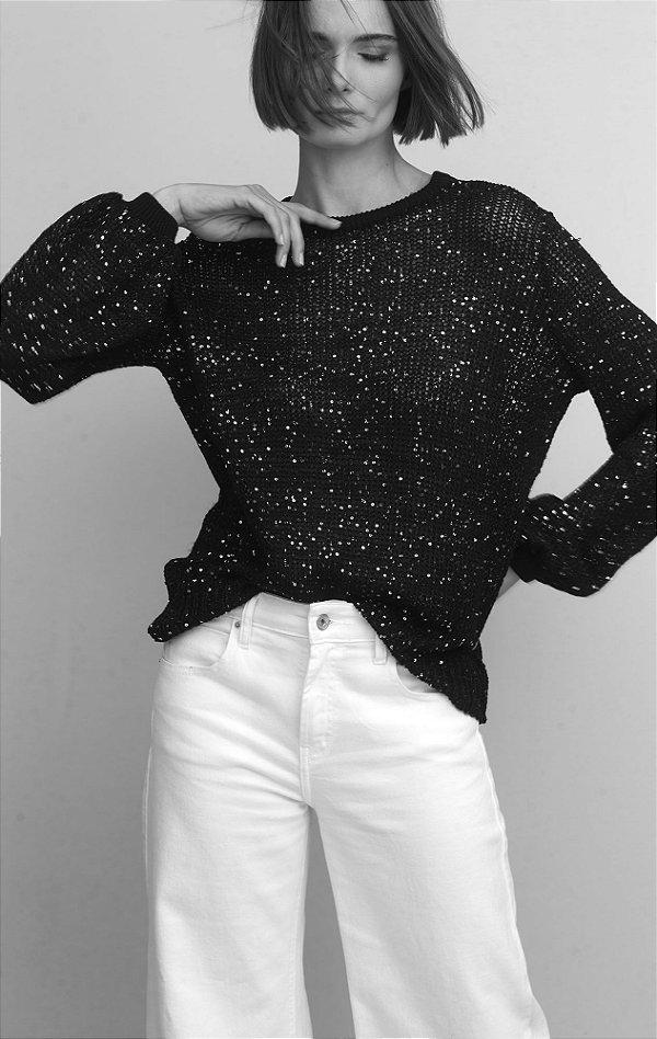Blusa em Tricot de Minipaetes