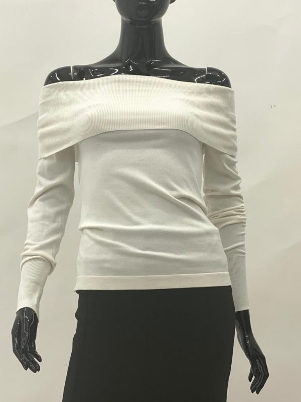 Tricot Ombro a Ombro Off White