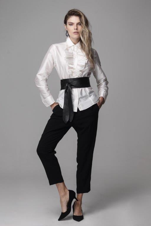 Camisa Carolina Tafetá Off White
