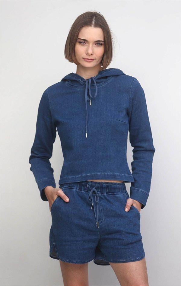 Conjunto Moleton Jeans Curto