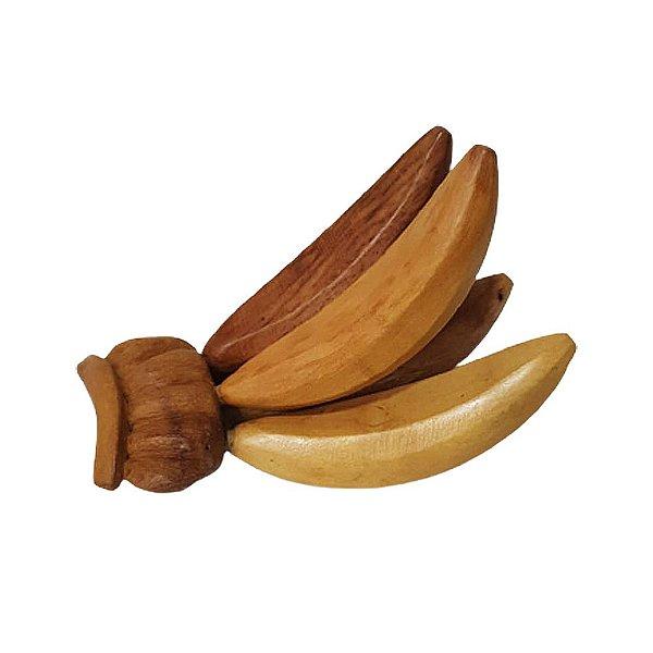 Cacho de Banana em madeira G - PB