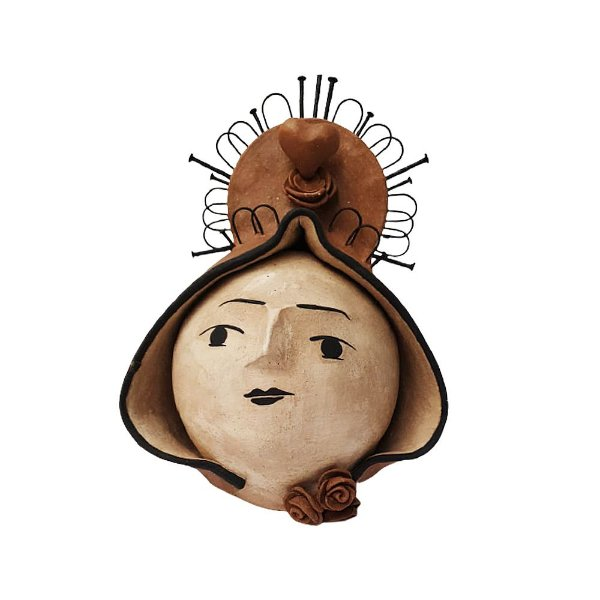 Nossa Senhora em cerâmica Bola - LeArtes - PE