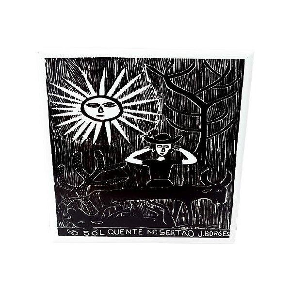 """Azulejo """"O Sol Quente no Sertão"""" M - J. Borges - PE"""