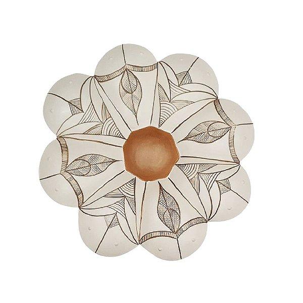 Flor de Parede Branca MARCILENE - 24 Cm