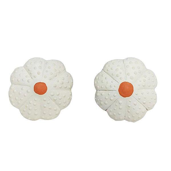 Par puxador flor branca 1