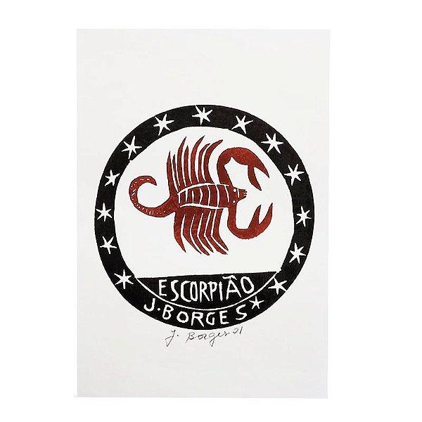 "Xilogravura ""Escorpião"" P - J. Borges - PE"