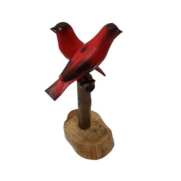 Tronco com 2 Pássaros - Jair de Prados - MG
